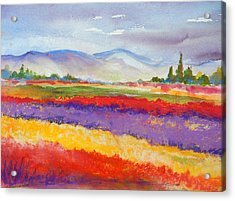 Purple Fields Acrylic Print