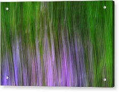 Purple Flames Acrylic Print