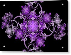 Acrylic Print featuring the photograph Purple Floral Celebration by Sandy Keeton