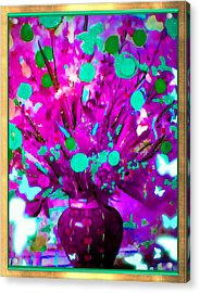 Purple Floral Acrylic Print by HollyWood Creation By linda zanini