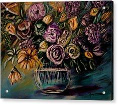 Purple Fragrance Acrylic Print by Dyanne Parker