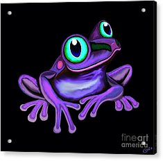 Acrylic Print featuring the painting Purple Frog  by Nick Gustafson