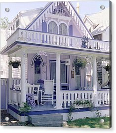 Purple Gingerbread House Acrylic Print by Rose Martin