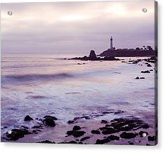 Purple Glow At Pigeon Point Lighthouse Alternate Crop Acrylic Print