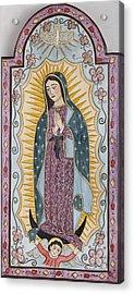 Purple Guadalupe Acrylic Print by Ellen Chavez de Leitner