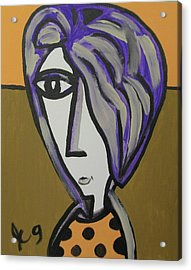 Purple Hair Gets In My Eyes Acrylic Print by Jimmy King