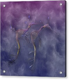 Purple Haze Acrylic Print by Betsy Knapp