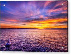 Purple Haze Sunset Acrylic Print by Spencer McDonald