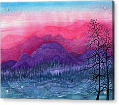 Purple Hills Acrylic Print by Adria Trail