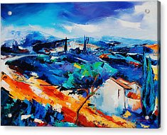 Purple Hills Acrylic Print by Elise Palmigiani