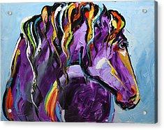 Purple Horse Acrylic Print
