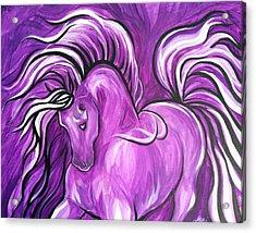 Purple Horse Acrylic Print by Leni Tarleton