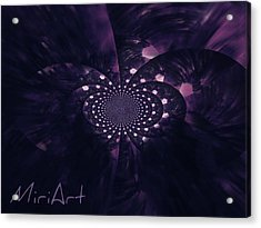 Acrylic Print featuring the photograph Purple Intrigue by Miriam Shaw