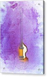 Purple Jazz Bass Acrylic Print