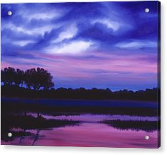 Purple Landscape Or Jean's Clearing Acrylic Print