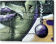 Purple Lips And Earring Acrylic Print