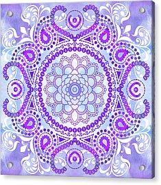 Purple Lotus Mandala Acrylic Print by Tammy Wetzel