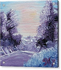 Purple Majesty Landscape Acrylic Print by Jera Sky