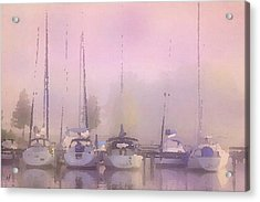 Purple Marina Morning Acrylic Print