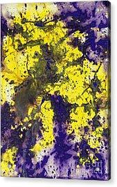Purple Married Yellow Acrylic Print