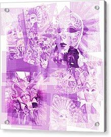 Purple Mask Craziness Acrylic Print by Amanda Eberly-Kudamik