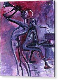 Purple Mood Acrylic Print by Toni  Thorne