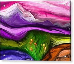 Purple Mountain Acrylic Print by Jennifer Galbraith