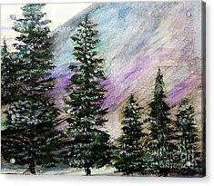 Purple Mountain Majesty Acrylic Print by Scott D Van Osdol