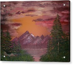 Purple Mountain Acrylic Print by Mikki Alhart