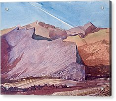 Purple Mountain Majesty Acrylic Print by Vaughan Davies