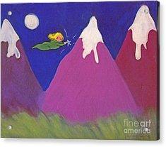 Purple Mountains Majesty Acrylic Print by Christine Crosby