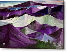 Acrylic Print featuring the painting Purple Mountains Majesty by Kim Nelson