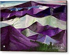 Purple Mountains Majesty Acrylic Print by Kim Nelson