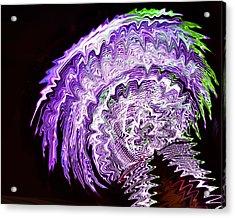 Purple Mushroom Acrylic Print