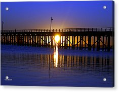 Purple Ocean Sunrise Acrylic Print
