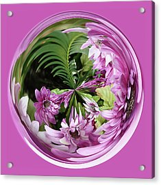 Purple Orb Acrylic Print by Bill Barber
