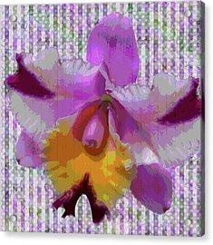 Purple Orchid Design Acrylic Print by Rosalie Scanlon
