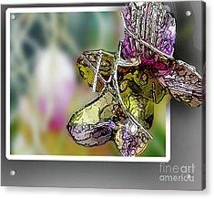 Purple Orchid Pop Acrylic Print by Deborah Nakano