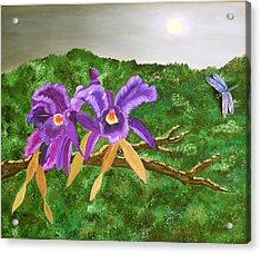 Purple Passion Acrylic Print by Alanna Hug-McAnnally