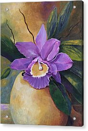 Purple Passion Orchid Acrylic Print
