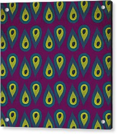 Purple Peackock Print  Acrylic Print