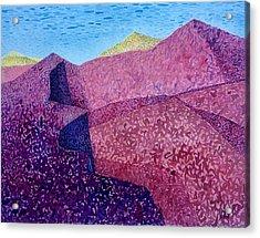 Purple Peak Acrylic Print by Vaughan Davies