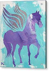 Purple Pegasus Acrylic Print