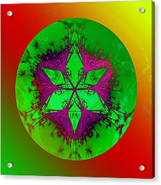 Purple Pentagram Acrylic Print by Brigita Tekavcic