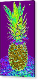 Purple Pineapple Acrylic Print by Jeanne Forsythe