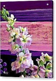 Acrylic Print featuring the photograph Purple Purple Everywhere by Marsha Heiken