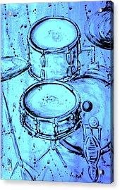 Purple Rain Drums Acrylic Print