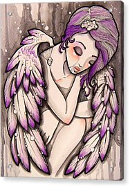 Purple Rain Acrylic Print by Margie Forestier