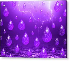Acrylic Print featuring the photograph Purple Rain by Shane Bechler