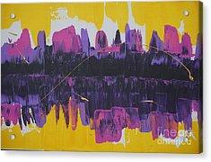 Purple Reflections Acrylic Print
